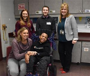Skyview student receives wheelchair