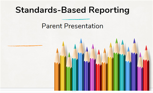 standards based reporting parent presentation icon