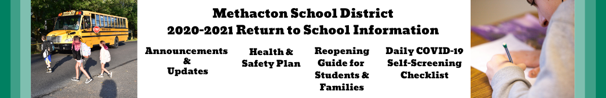 Return to School Information Banner
